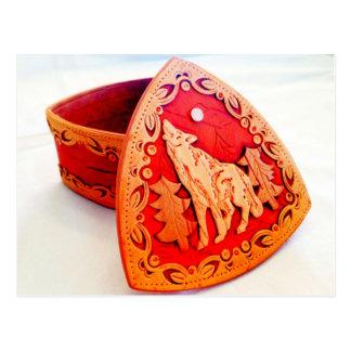 Cartão Postal Caixa de jóia Handmade da madeira de vidoeiro com