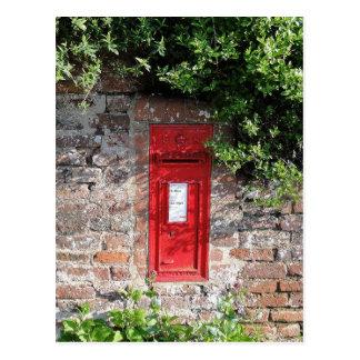 Cartão Postal Caixa de letra britânica da parede