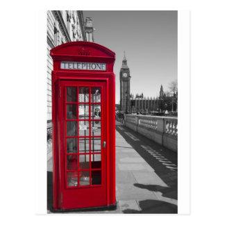 Cartão Postal Caixa de telefone vermelha de Big Ben