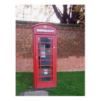 Cartão Postal Caixa de telefone vermelha em Londres