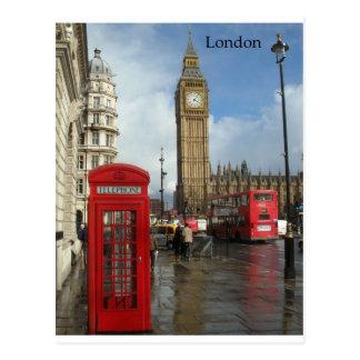 Cartão Postal Caixa do telefone de Londres Big Ben (por St.K)