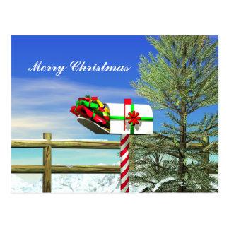 Cartão Postal Caixa postal do Natal
