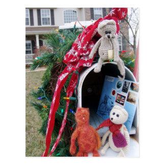 Cartão Postal Caixa postal do tempo do Natal de Frank, de Leo e