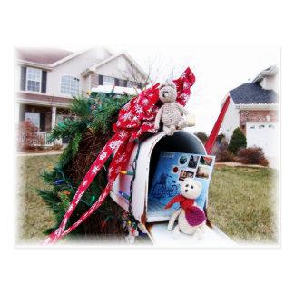 Cartão Postal Caixa postal do tempo do Natal de Frank&Leo