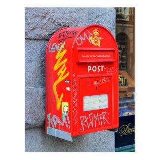 Cartão Postal Caixa postal em Copenhaga, Dinamarca