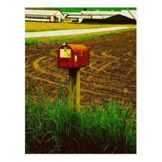 Cartão Postal Caixa postal rural da rota