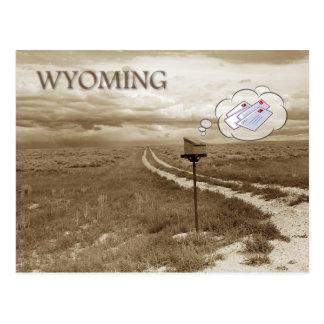 Cartão Postal Caixa postal só em Wyoming