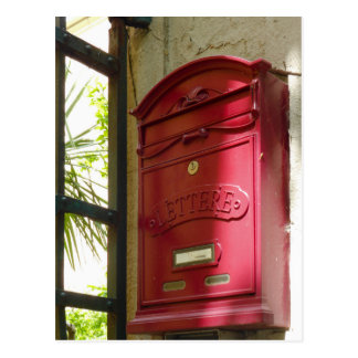 Cartão Postal Caixa postal vermelha