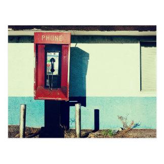 Cartão Postal Caixa vermelha velha do telefone do telefone