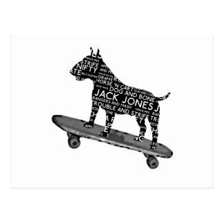 Cartão Postal calão skateboarding de bull terrier Cocney Londres