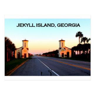 Cartão Postal Calçada de Geórgia da ilha de Jekyll