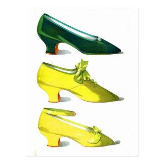 Cartão Postal Calçados amarelos e verdes
