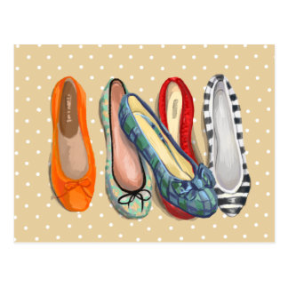 Cartão Postal Calçados - deslizadores minúsculos