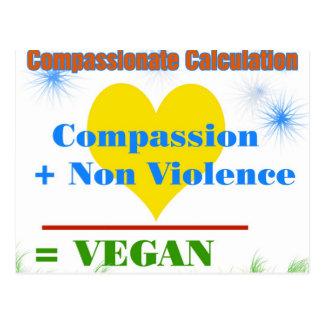 Cartão Postal Cálculo compassivo