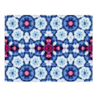 Cartão Postal caleidoscópio cor-de-rosa do azul de n