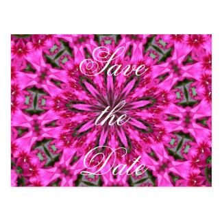 Cartão Postal Caleidoscópio cor-de-rosa do Phlox
