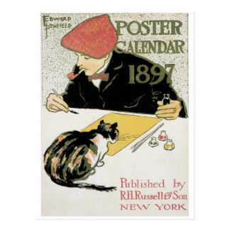 Cartão Postal Calendário 1897 do poster