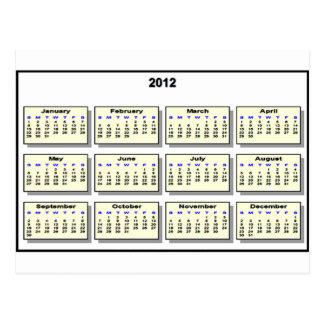Cartão Postal Calendário 2012 os presentes de Zazzle do MUSEU