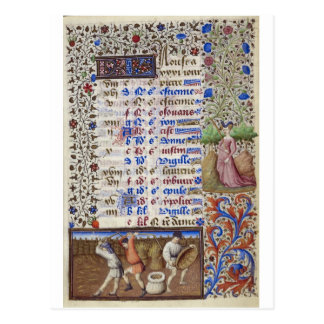 Cartão Postal Calendário medieval: Agosto