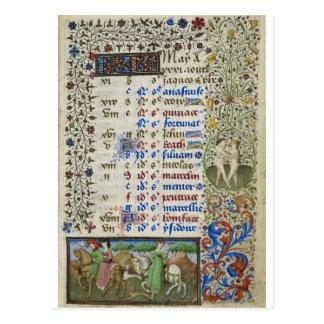 Cartão Postal Calendário medieval: Maio
