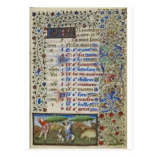 Cartão Postal Calendário medieval: Novembro