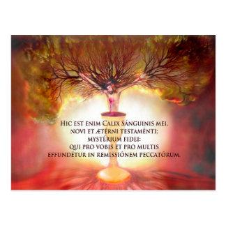 Cartão Postal Cálice do cristo com poema: A hora santamente