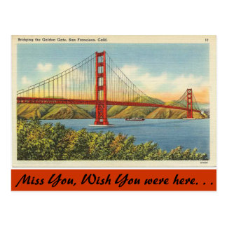 Cartão Postal Califórnia, golden gate bridge