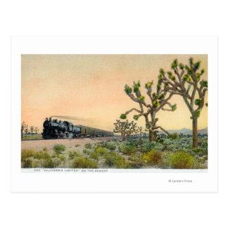 Cartão Postal Califórnia limitou o trem que viaja completamente