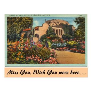 Cartão Postal Califórnia, missão San Juan Capistrano
