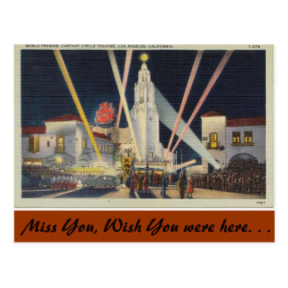 Cartão Postal Califórnia, mundo primeiro, Los Angeles