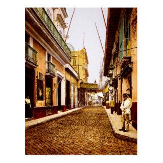 Cartão Postal Calle de Habana Havana Cuba