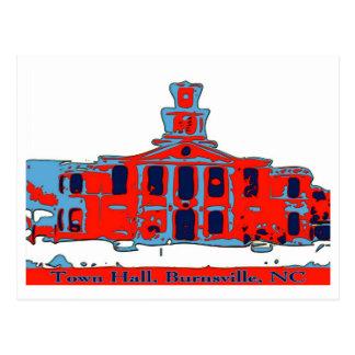 Cartão Postal Câmara municipal Burnsville NC