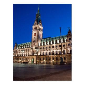 Cartão Postal Câmara municipal de Hamburgo