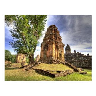 Cartão Postal Cambodia, Angkor Wat. Vista do templo de Bakong