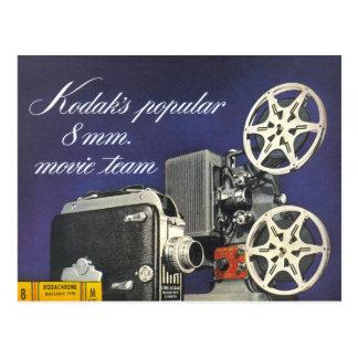 Cartão Postal Câmera 1942 e projetor de filme