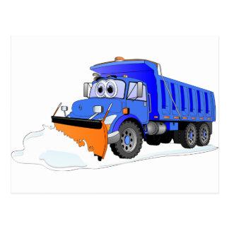 Cartão Postal Camião basculante azul dos desenhos animados do