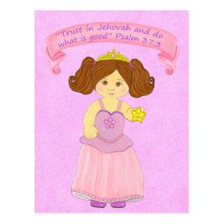 Cartão Postal Caminhada das crianças em Truth~Princess~Scripture