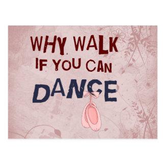 Cartão Postal Caminhada do don´t da dança