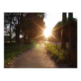 Cartão Postal Caminhada do por do sol em Hungria