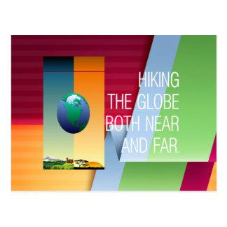 Cartão Postal Caminhada SUPERIOR o globo