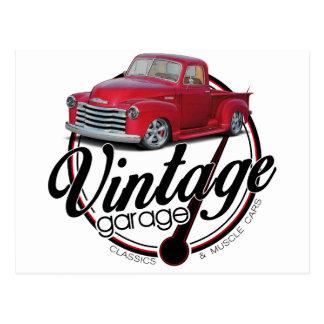 Cartão Postal Caminhão da garagem do vintage