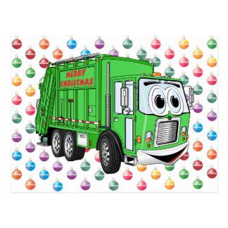 Cartão Postal Caminhão de lixo do Feliz Natal