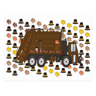 Cartão Postal Caminhão de lixo novembro da acção de graças