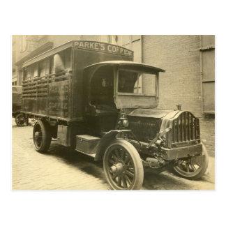 Cartão Postal Caminhão do café de Parke - 1920