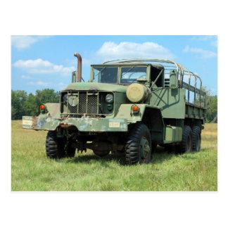 Cartão Postal Caminhão em excesso militar do vintage 6X6