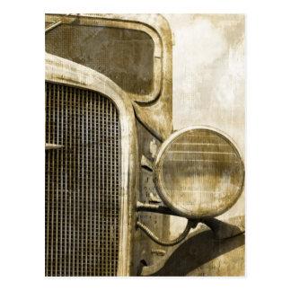 Cartão Postal Caminhão velho da fazenda oxidada industrial do