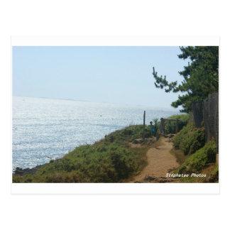 Cartão Postal Caminho costeiro Nevez BRETANHA
