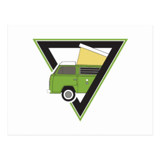 Cartão Postal camionete de campista verde clássica do triângulo