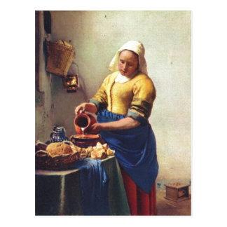 Cartão Postal Camionete Delft de Vermeer, janeiro Milchausgie?