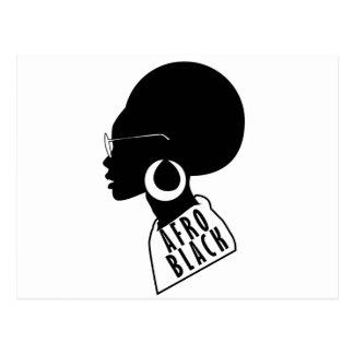 Cartão Postal Camisa do presente t do preto do afro-americano do